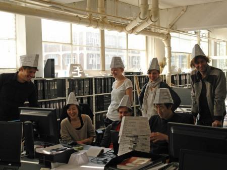 Forum Facade test lab: Guusjunghwabarbarathijssarahgeniwan
