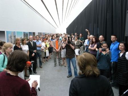 generálnej riaditeľky SNG Kataríny Bajcurovej opening the exhibit