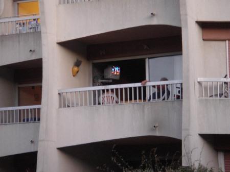 TV on the Balcony