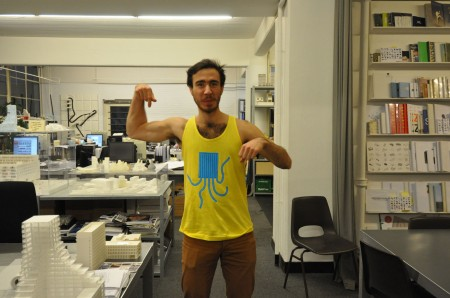 Zac with Squid pool Tanktop