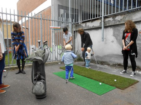 Golf Clinic at NL Parking Lot