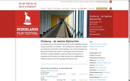 Kleiburg_de laatste Bijlmer Flat