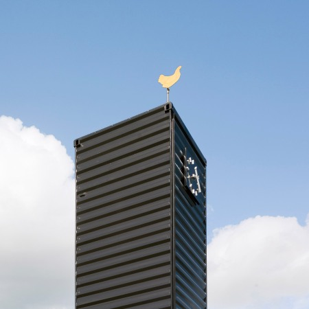 Barneveld Noord_ Golden Chicken Wind Vane